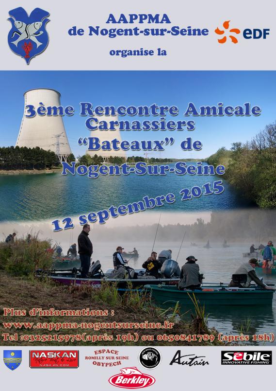 Affiche challenge carnassier du nogent-sur-seine du 12 septembre 2015